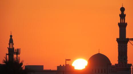 Atardecer en Abu Dabi